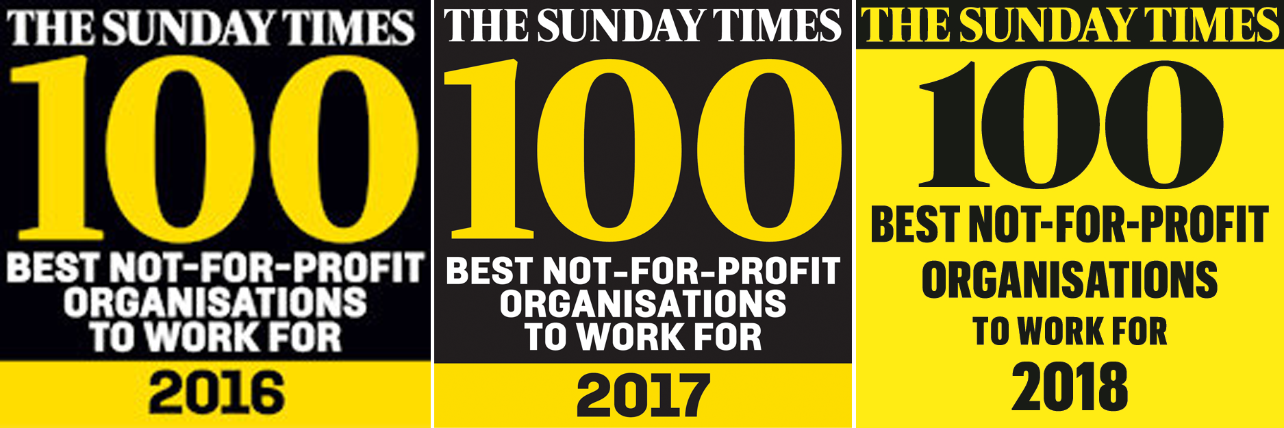 Sunday Times Top 100 Best Not-For-Profit Organisations to Work For Health and Wellbeing Special Award 2016