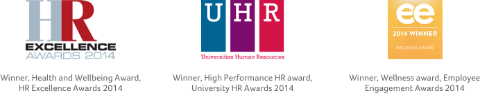 Health & Wellbeing Award, H R Excellence Awards 2014 & High Performance H R award, U H R Awards 2014